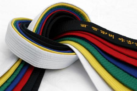 coloured belts large